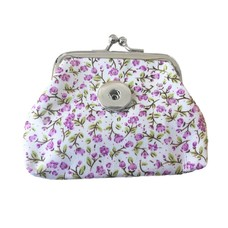 Clicks Sieraden Knip portemonnee bloemen paars