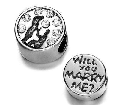 Bedels Kralen Bedel wil je met me trouwen voor bedelarmbanden