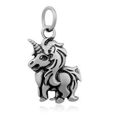 Hangende Bedels Hangende bedel unicorn  zilver