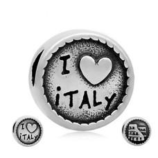 Bedels en Kralen Bedel Italie zilver