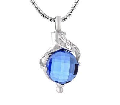 Ashangers | Ashanger traan blauw zilver inclusief ketting