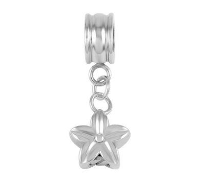 Asbedels Asbedel bloem zilver voor bedelarmbanden