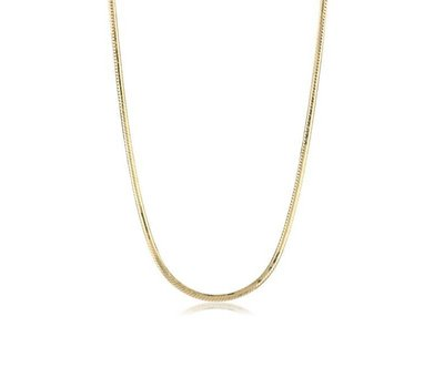 Assieraden Gouden rvs snake ketting