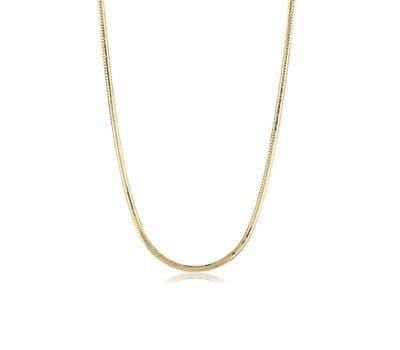Ketting voor Hanger   Gouden snake ketting  zonder hanger van rvs