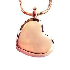 Assieraden Assieraad Ashanger schuin hart rose goud inclusief ketting