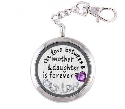 Complete Memory locket Moeder en Dochter Memory Locket Sleutelhanger