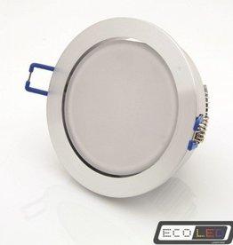 Eco-LED 15W LED ingebouwde downlight COB technologie, klein paneel, warm wit licht.