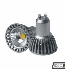 Eco-LED 6W 220V COB warm wit licht, GU10
