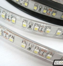 Eco-LED LED STRIP 5050 60 SMD/m 220V WARM WIT SPATWATERDICHT - WITTE ONDERGROND