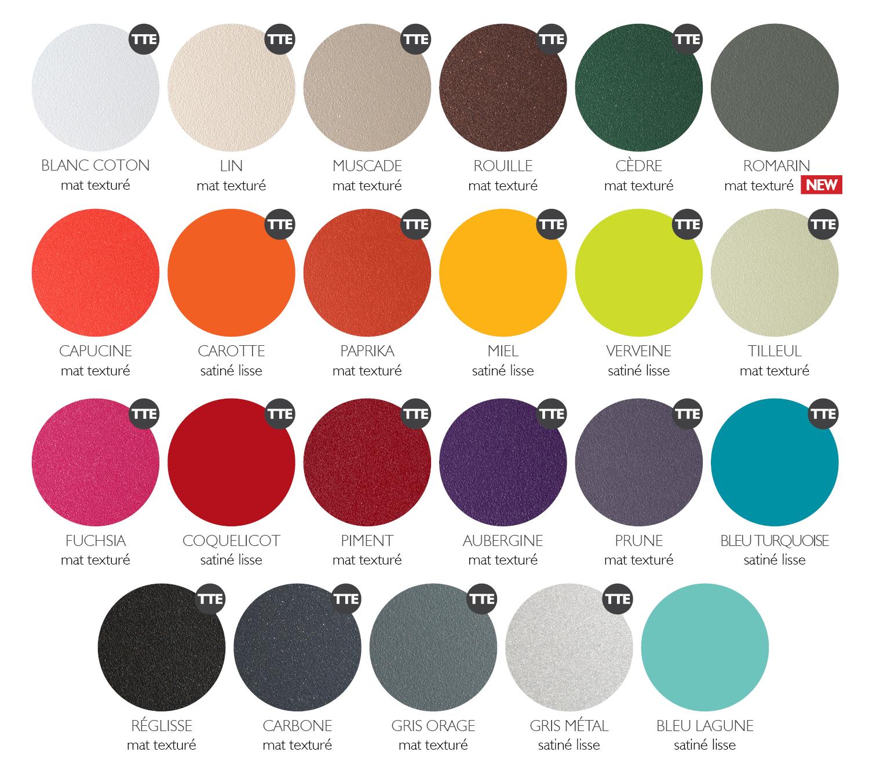 Fermob kleurenkaart 2016