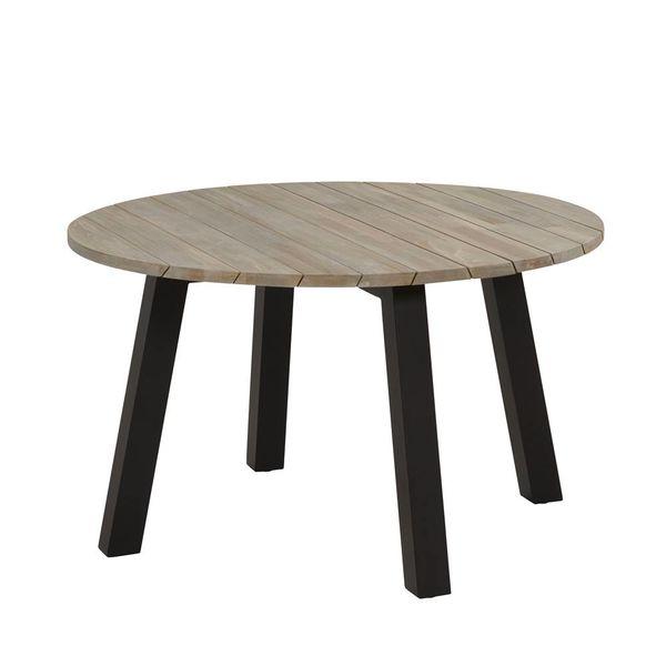 4SO Derby tafel Teak/Alu Ø130cm