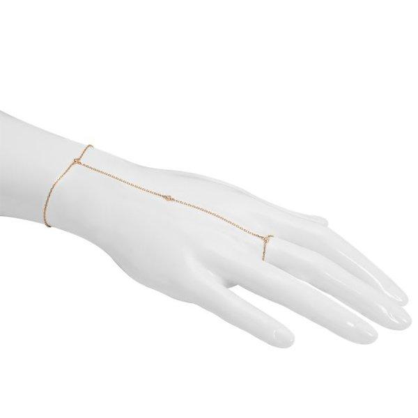 Handkette 3 Diamonds in Roségold