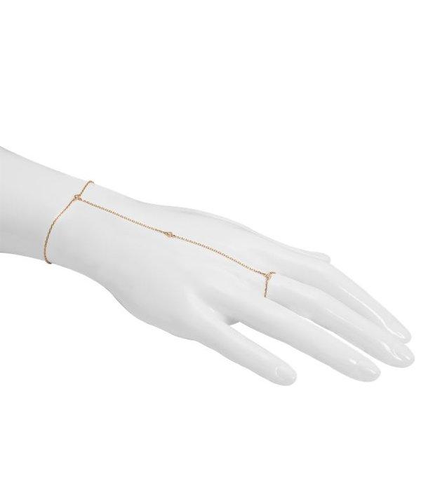 Djula Modische Handkette mit drei Diamanten besetzt