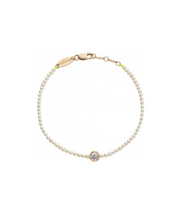 "Redline Armband ""Pure"" Roségold Diamonds & Pearls"