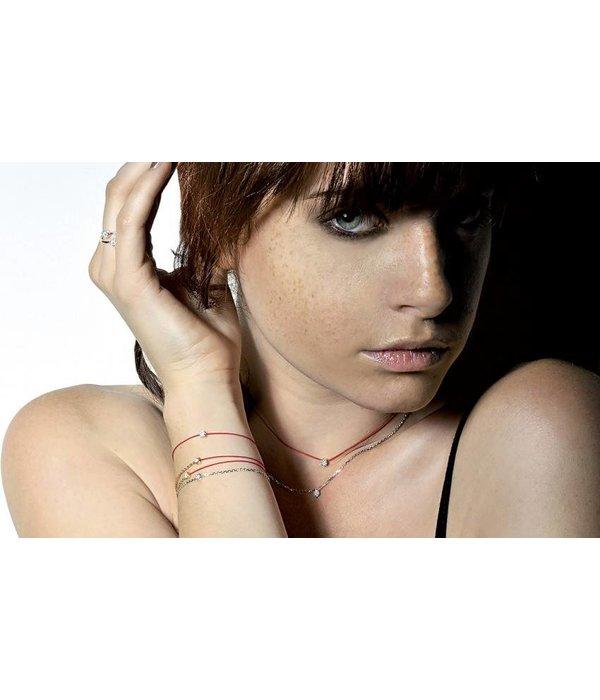 """Redline Armband """"Pure"""" Weißgold mit Faden"""