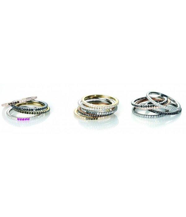 """Redline Ring """"Si Jolie"""" Graugold / Schwarzdiamanten"""