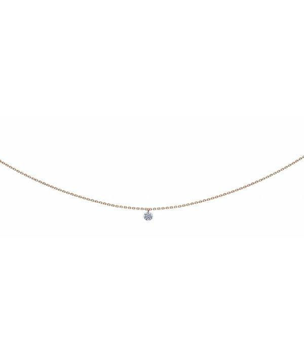 La Brune et la Blonde Halskette 360° Roségold/Diamant 0,1 Karat