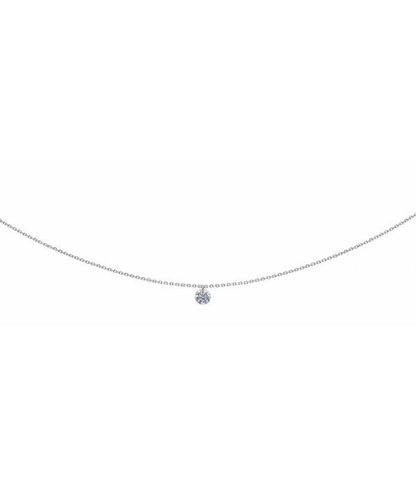 La Brune et la Blonde Halskette 360° Weißgold/Diamant 0,2 Karat