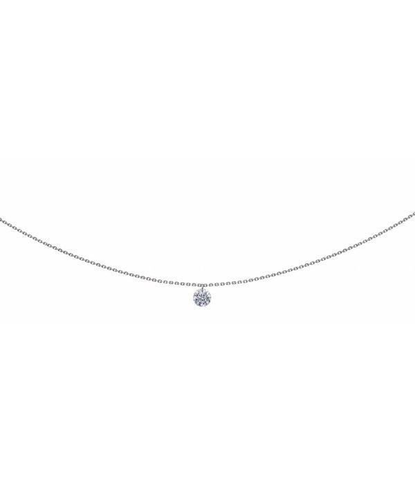 La Brune et la Blonde Halskette 360° Weißgold/Diamant 0,3 Karat