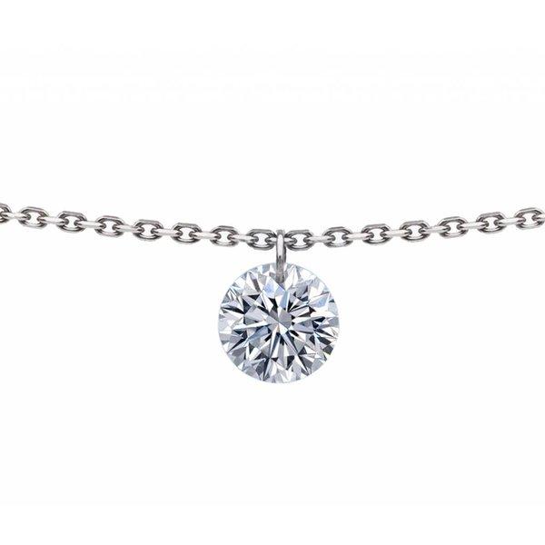 Halskette 360° Weißgold/Diamant 0,3 Karat