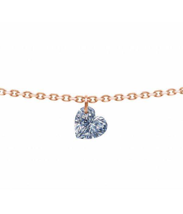La Brune et la Blonde Halskette 360°Ceur Roségold/Diamant 0,15 Gr.