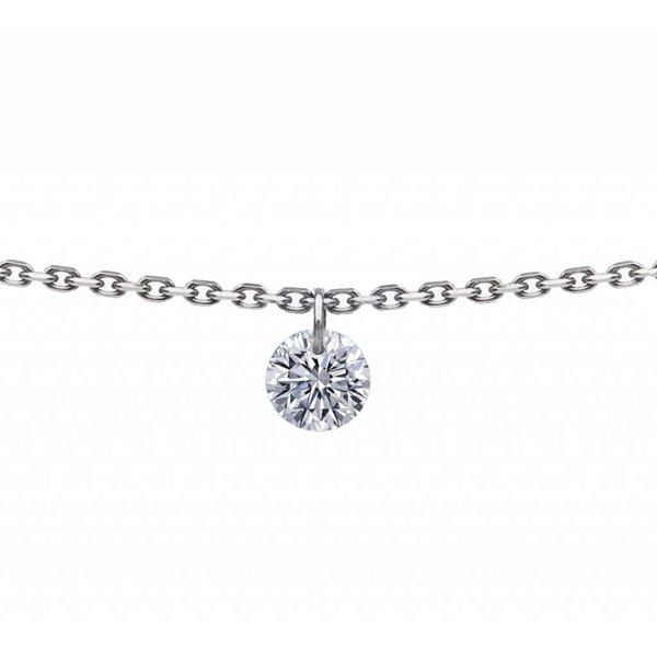 Halskette 360° Weißgold/Diamant 0,1 Karat