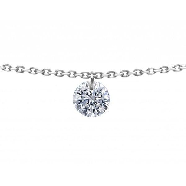 Halskette 360° Weißgold/Diamant 0,2 Karat