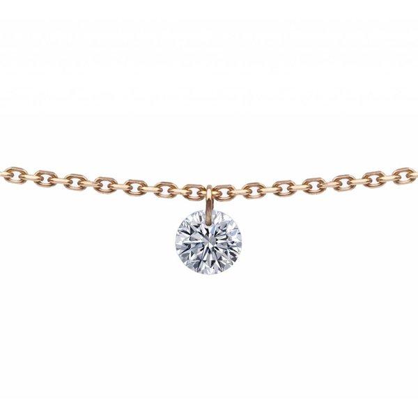 Halskette 360° Roségold/Diamant 0,1 Karat
