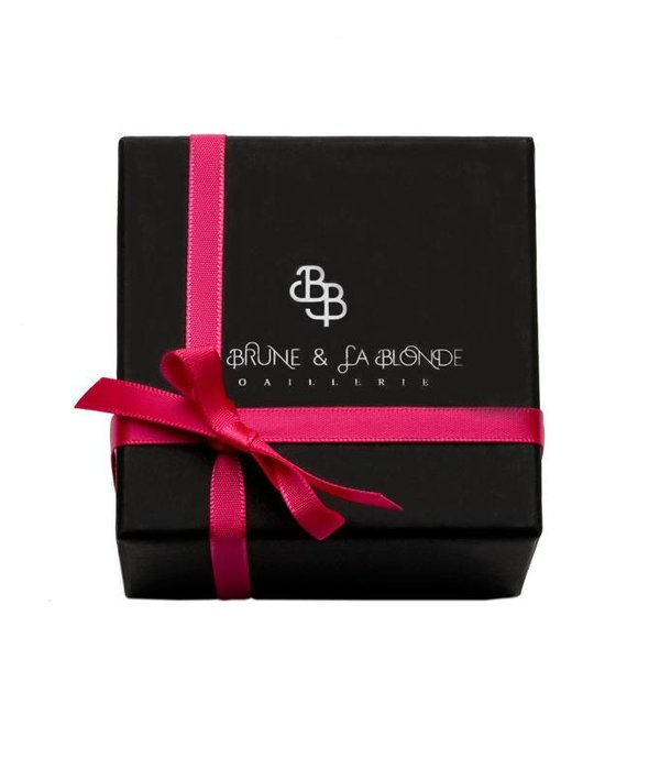La Brune et la Blonde Halskette Exentrique Weißgold 0,12 Karat