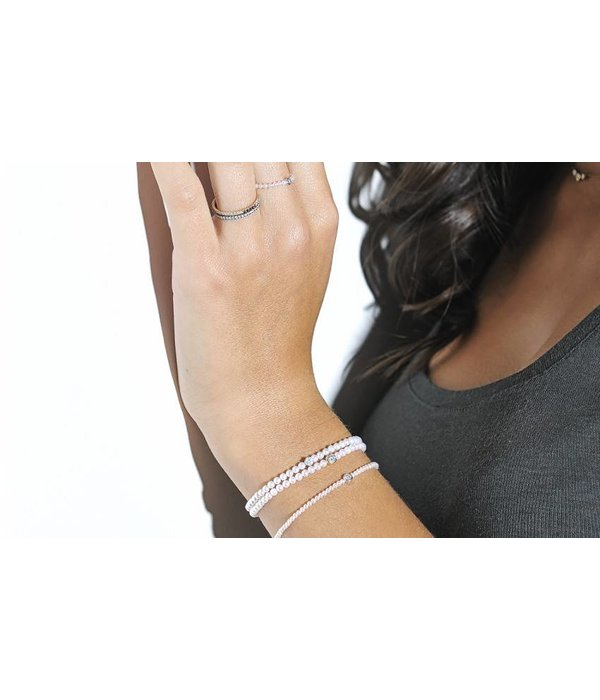 "Redline Armband ""Pure"" Weißgold Diamonds & Pearls"