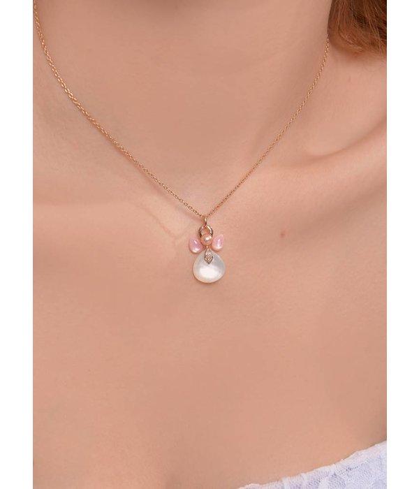 Isabelle Langlois Anhänger Engel mit Diamanten