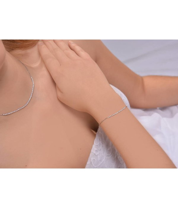 """Redline Armband """"Marilyn"""" Weißgold mit Kette"""