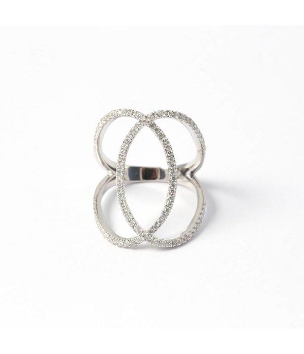 "Djula Diamantring ""Double Cercle"""