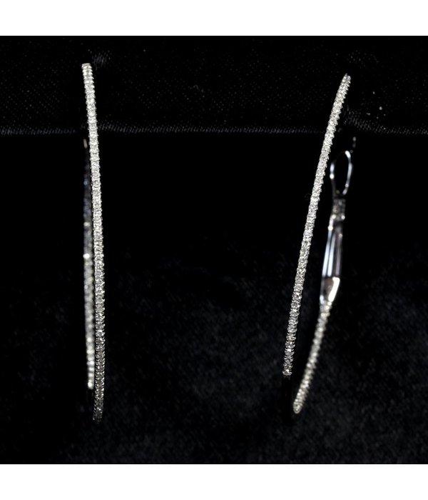 Djula Diamantohrringe Creolen (3cm)