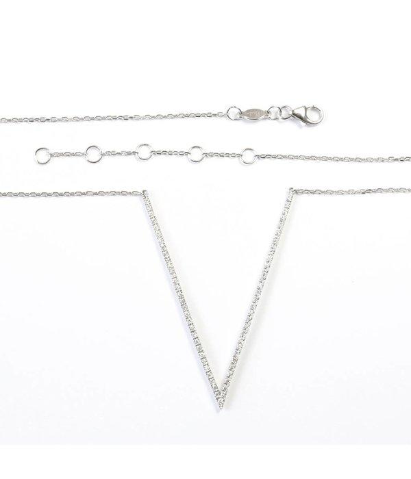 """Djula Halskette """"V"""" mit Diamanten"""