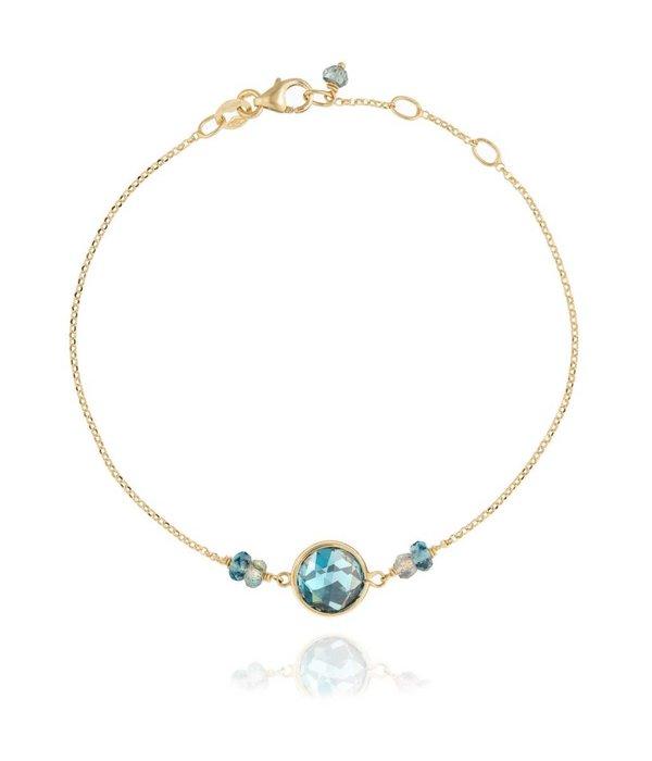 Perle de Lune Armband Precious Blauer Topas
