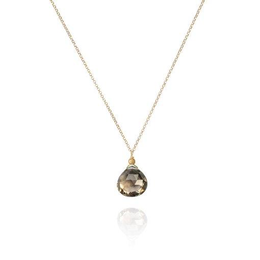 Perle de Lune Halskette Drop Quartz