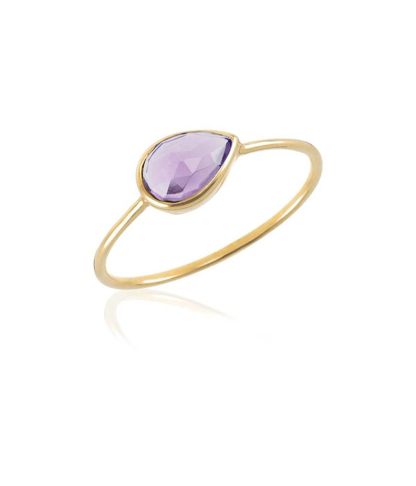 Perle de Lune Ring Solo Amethyst