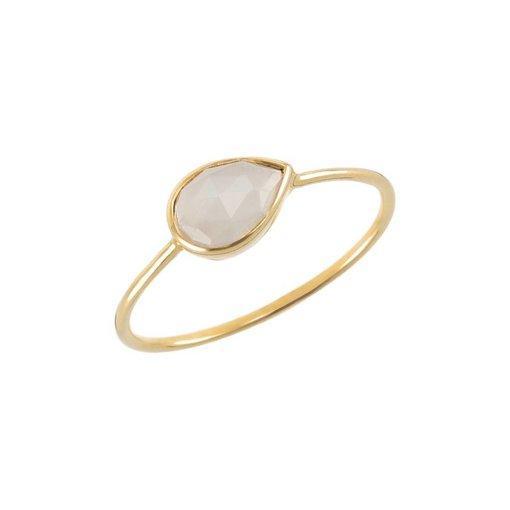 Perle de Lune Ring Solo Mondstein