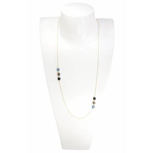 Perle de Lune Halskette Pastille Long