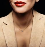 La Brune et la Blonde Halskette Pampilles Roségold / Diamanten 0,3 Karat