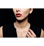 La Brune et la Blonde Halskette Cravatte Roségold / 2 Diamanten