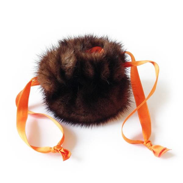 Schmucksäckchen braun/mandarin - 20 cm