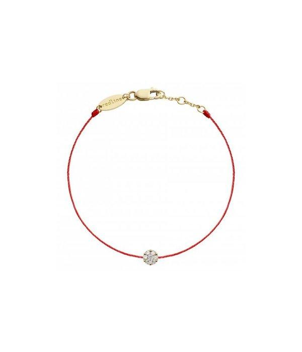 """Redline Armband """"SO ILLUSION"""" mit 0,10 Kt Diamanten und 18 Kt Gelbgold"""