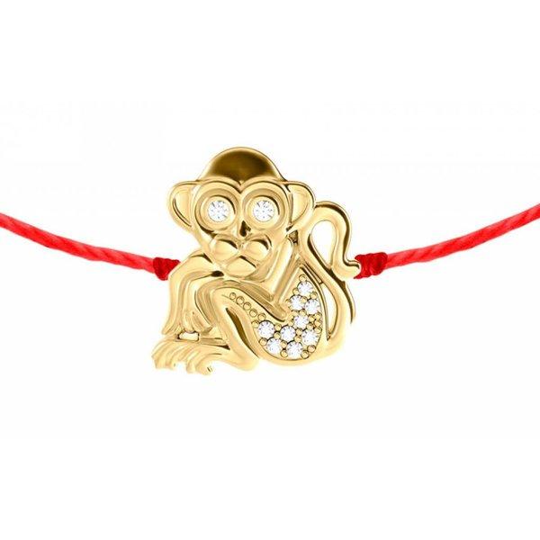 Armband Affe mit Diamanten 18 Kt Gelbgold
