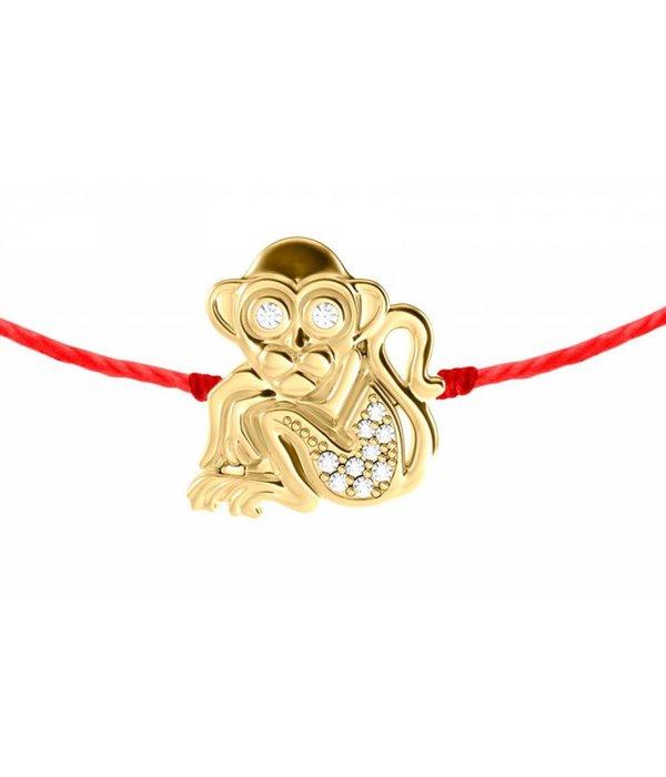 Redline Armband Affe mit Diamanten 18 Kt Gelbgold