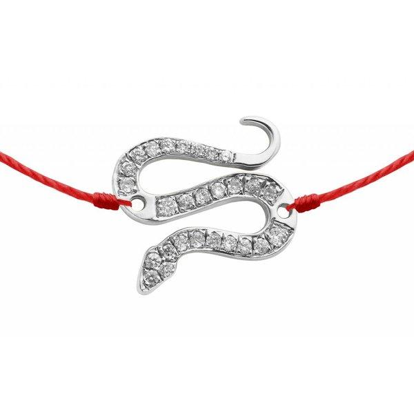 Armband Schlange mit Diamanten 18 Kt Weißgold