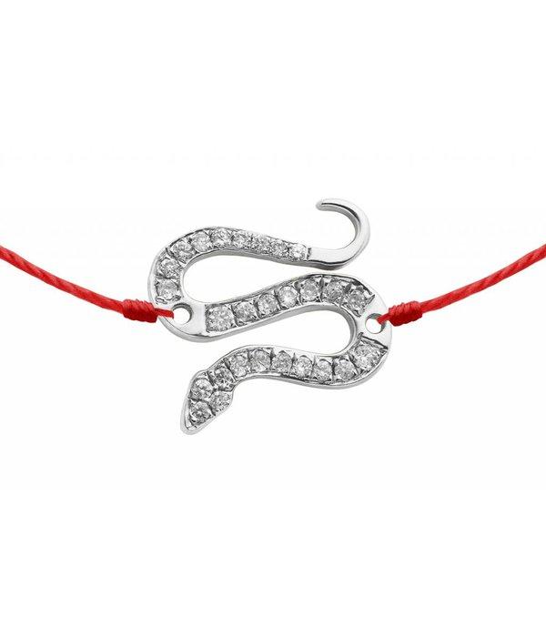 Redline Armband Schlange mit Diamanten 18 Kt Weißgold