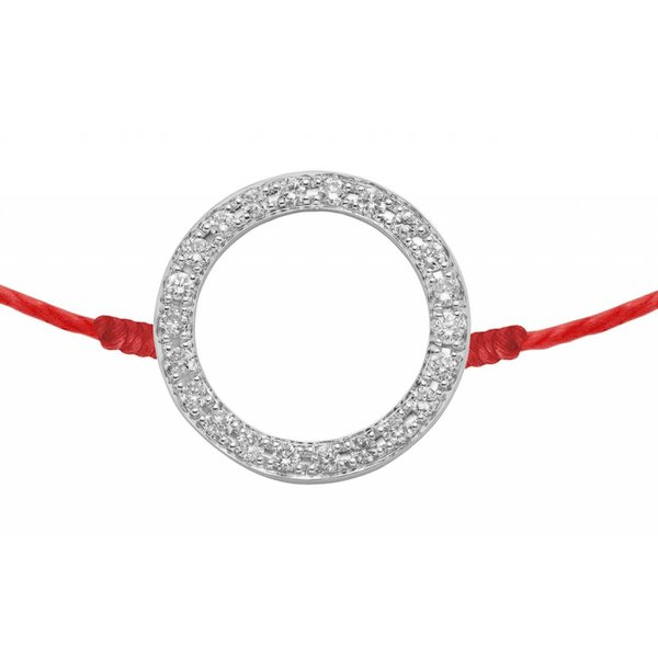 Armband Kreis mit Diamanten 18 Kt Weißgold