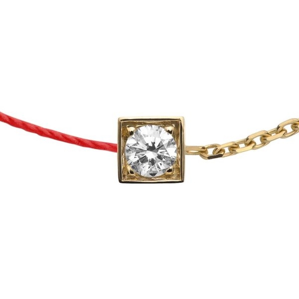 Armband CUBE double rouge in Gelbgold